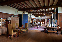 The open-plan living area where the Rodmarton's Women's Guild would come and make textiles for the house