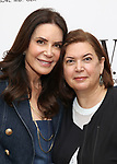"Lois Robbins and director Karen Carpenter during the meet & greet for the off-Broadway premiere of the comedic one-woman play, ""L.O.V.E.R."" starring Lois Robbins at the Primary Stages Rehearsal Studio on July 31, 2019 in New York City."