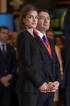 Queen Letizia of Spain attends tourism fair FITUR in Madrid, Spain. Month XX, 2015. (ALTERPHOTOS/Victor Blanco)