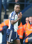 Saido Berahino of West Bromwich Albion appears to be saying a prayer  - Barclays Premier League - WBA vs Newcastle Utd - Hawthorns Stadium - West Bromwich - England - 9th November 2014  - Picture Simon Bellis/Sportimage