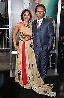 Walton Goggins &amp; Nadia Conners at the US premiere for &quot;Tomb Raider&quot; at the TCL Chinese Theatre, Los Angeles, USA 12 March 2018<br /> Picture: Paul Smith/Featureflash/SilverHub 0208 004 5359 sales@silverhubmedia.com