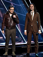 LOS ANGELES - DECEMBER 6: Presenters Rivers Cuomo and Brian Bell appear onstage at the 2018 Game Awards at the Microsoft Theater on December 6, 2018 in Los Angeles, California. (Photo by Frank Micelotta/PictureGroup)