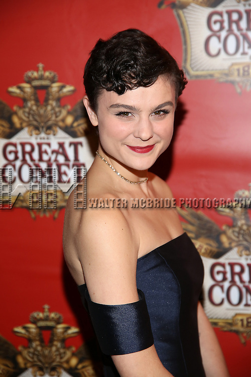 Samantha Massell attends the Broadway Opening Night performance of  'Natasha, Pierre & The Great Comet Of 1812' at The Imperial Theatre on November 14, 2016 in New York City.