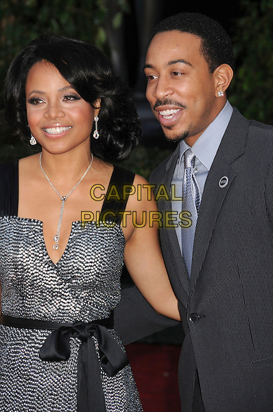 "CHRIS ""LUDACRIS"" BRIDGES & GUEST.14th Annual Screen Actors Guild Awards held at the Shrine Auditorium, Los Angeles, California, USA, 27 January 2007..SAG half length.CAP/ADM/BP.©Byron Purvis/AdMedia/Capital Pictures."