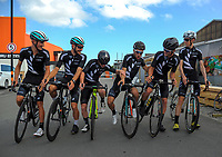 The NZ national team during the opening ceremony of the NZ Cycle Classic UCI Oceania Tour at Mitre 10 Mega in Masterton, New Zealand on Tuesday, 16 January 2018. Photo: Dave Lintott / lintottphoto.co.nz