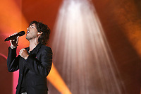 """Mickael Miro performs at the """"Paris-Quebec"""" show of the 44th Festival d'ete de Quebec on the Plains of Abraham in Quebec city Thursday July 7, 2011."""