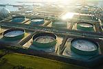 Aerial view of Oil, Petroleum Refinery in  St. Croix USVI