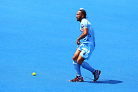 Sardar Singh in action for India during the Hockey World League Semi-Final match between Pakistan and India at the Olympic Park, London, England on 18 June 2017. Photo by Steve McCarthy.