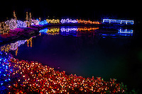 The Garden of Lights at Honor Heights Park in Muskogee Oklahoma features over 1 million Christmas lights.