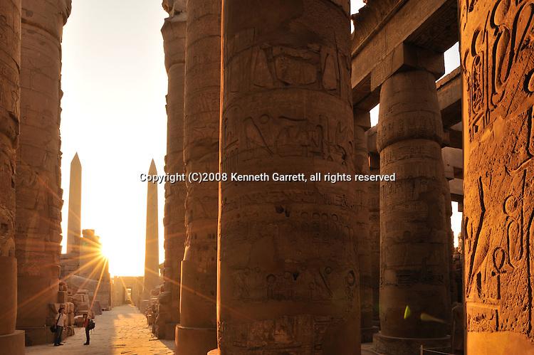 Hatshepsut; MM7715; Karnak Temple; Luxor; Hatshepsut Obelisk; Hypostyle Hall; sunrise; New Kingdom; 18th dynasty, Thebes