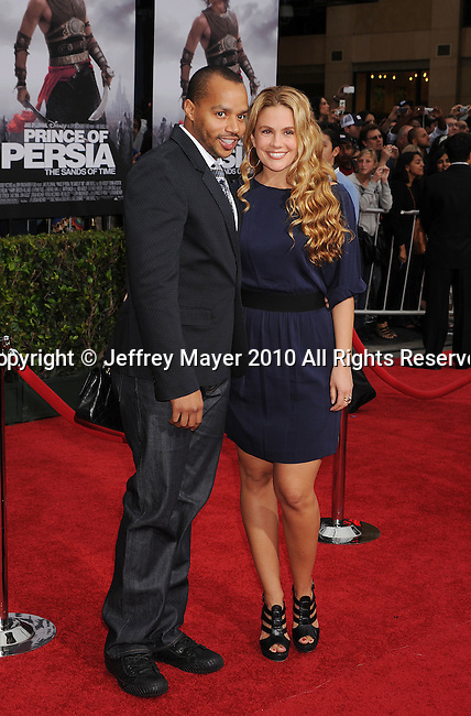 "HOLLYWOOD, CA. - May 17: Donald Faison and Cacee Cobb arrive at the ""Prince of Persia: The Sands of Time"" Los Angeles Premiere held at Grauman's Chinese Theatre on May 17, 2010 in Hollywood, California."