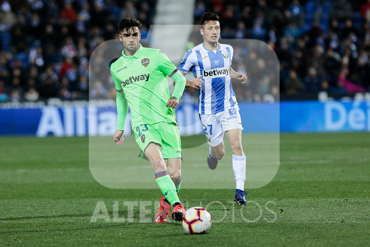 Levante UD's David Remeseiro 'Jason' during La Liga match between CD Leganes and Levante UD at Butarque Stadium in Leganes, Spain. March 04, 2019. (ALTERPHOTOS/A. Perez Meca)
