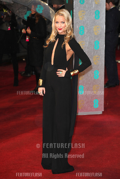 Laura Whitmore arriving for the 2013 British Academy Film Awards, at the Royal Opera House, London. 10/02/2013 Picture by: Alexandra Glen / Featureflash