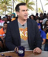 "MIAMI BEACH, FL - JANUARY 31: Rob Riggle on the set of ""Skip & Shannon: Undisputed"" on the Fox Sports South Beach studio during Super Bowl LIV week on January 31, 2020 in Miami Beach, Florida. (Photo by Frank Micelotta/Fox Sports/PictureGroup)"