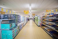 Thursday  21 July 2016<br /> Pictured: Interior view of the Store<br /> Re: ALDI Haverfordwest Grand Re-opening