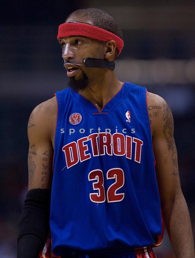 Richard Hamilton.\.Milwaukee Bucks lost to the Detroit Pistons 81-93.