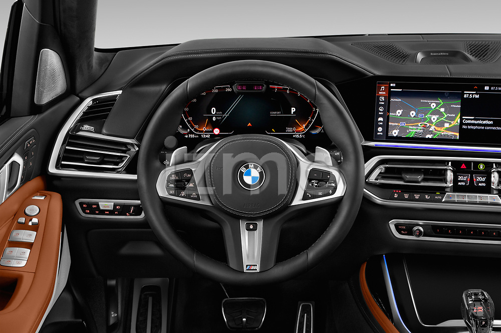Car pictures of steering wheel view of a 2019 BMW X7 M-Sport 5 Door SUV Steering Wheel