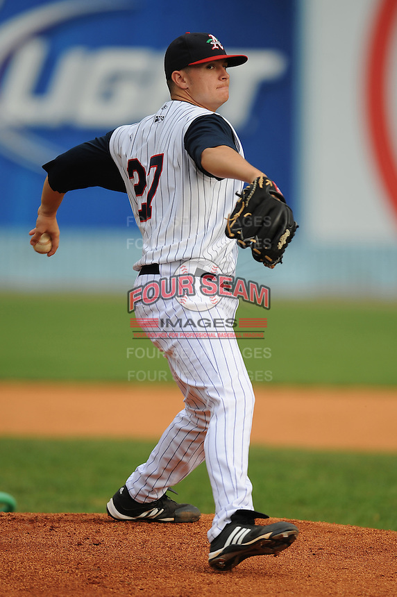 Paul Bargas #27 Pitcher Asheville Tourists (Rockies) May 14, 2010 Photo By Tony Farlow/Four Seam Images