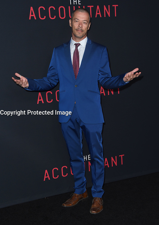 Massi Furlan @ the premiere of 'The Accountant' held @ the Chinese theatre in Hollywood, USA, October 10, 2016. # 'THE ACCOUNTANT' PREMIERE IN HOLLYWOOD