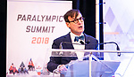 Marc-André Fabien during the  CPC Paralympic Summit 2018 at the Palliser Hotel in Calgary, Alberta on November 15, 2018.