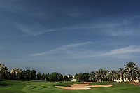 A general view of the 9th green during the first round of the Ras Al Khaimah Challenge Tour Grand Final played at Al Hamra Golf Club, Ras Al Khaimah, UAE. 31/10/2018<br /> Picture: Golffile | Phil Inglis<br /> <br /> All photo usage must carry mandatory copyright credit (&copy; Golffile | Phil Inglis)