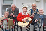 TUNES: Castleisland Day Care Centre will be launching a new CD Never Grow Old in The Crown Hotel, Castleisland,.this Friday night. Practising their tunes at the day care centre during the week were Chris Pembroke, Donie OSullivan,.Agnes Twomey, Tony Fagan and Willie Lyons.