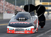 Oct 6, 2013; Mohnton, PA, USA; NHRA funny car driver Jack Beckman during the Auto Plus Nationals at Maple Grove Raceway. Mandatory Credit: Mark J. Rebilas-