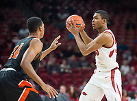 NWA Democrat-Gazette/BEN GOFF @NWABENGOFF <br /> Reggie Chaney (35) of Arkansas vs Tusculum in the second half Friday, Oct. 26, 2018, during an exhibition game in Bud Walton Arena in Fayetteville.
