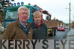 TRAFFIC CHAOS: Abbeydorney residents Gerry Doyle and Dermot Dillane say something needs to be done about the traffic chaos in the village.