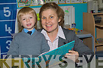BOOK: The principal of Lenamore NS Ballylongford Anne Marie O'Keeffe welcomed her only first year pupil Dylan Uljee on Wednesday.... ....