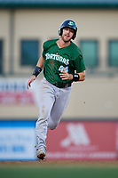 Daytona Tortugas first baseman Bruce Yari (44) running the bases during a Florida State League game against the Palm Beach Cardinals on April 11, 2019 at Roger Dean Stadium in Jupiter, Florida.  Palm Beach defeated Daytona 6-0.  (Mike Janes/Four Seam Images)