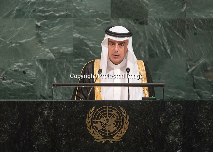 72 General Debate – 23rd of September  2017<br /> <br /> H.E. Adel Ahmed AL-JUBEIR<br /> Minister for Foreign Affairs of<br /> SAUDI ARABIA