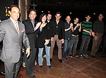 Producer Hal Luftig with Ricky Martin, Michael Cerveris and Company.attending the Broadway Opening Night Actors' Equity Gypsy Robe Ceremony for recipient Matt Wall in 'EVITA' at the Marquis Theatre in New York City on 4/6/2012