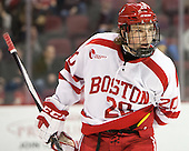 Brien Diffley (BU - 20) - The Boston University Terriers defeated the visiting Merrimack College Warriors 4-0 (EN) on Friday, January 29, 2016, at Agganis Arena in Boston, Massachusetts.