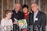 Meabh Kieran McDonagh, Bishop Ray Browne, Dr patricia Kieran, and Fr Ger Godley launch the Kerry Diocesan plan in the Malton Hotel on Monday evening