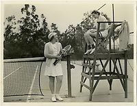 Occidental College tennis legend Pat (Henry) Yeomans '38, scanned file photo from Special Collections.