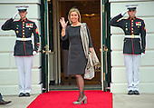 Federica Mogherini (Italy), High Representative of the Union for Foreign Affairs and Security Policy and Vice President of the European Commission arrives for the working dinner for the heads of delegations at the Nuclear Security Summit on the South Lawn of the White House in Washington, DC on Thursday, March 31, 2016.<br /> Credit: Ron Sachs / Pool via CNP