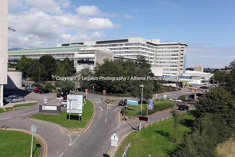 COPY BY TOM BEDFORD<br /> Pictured: General view of the University of Wales Hospital in Cardiff, south Wales.<br /> Re: A GP has highlighted the crisis facing Wales' accident and emergency departments after she waited 15 hours without getting access to a bed or trolley.<br /> Keziah Maizey, 37, went to the accident and emergency unit at the University Hospital Wales , Cardiff, on Tuesday evening after half her face became paralysed and she felt a weakness in an arm and a leg.