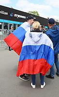 Russische Fans warten auf Einlass - 14.06.2018: Russland vs. Saudi Arabien, Eröffnungsspiel der WM2018, Luzhniki Stadium Moskau