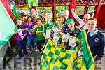 GOLDEN TICKETS: Winners of the Kerry's Eye All Ireland Ticket draw pictured with their supporters on Tuesday evening were: Kieran O'Connor, Inch, Kay O'Connor, Tralee, Oliver Kelly, Listowel, Michael Mangan, Beaufort and Cian Fleming, Killarney also in photo are Andrew Roche Irish Rail who are providing transport to Dublin to the winners and Brendan Kennelly, Marketing Manager, Kerry's Eye.