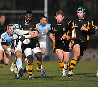 Rugby. High Wycombe, England. Christian Wade of London Wasps in action during the Amlin Challenge Cup match between London Wasps vs Bayonne at Adams Park on December 13, 2012 in High Wycombe, England.
