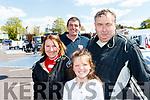 Little Clodagh Murphy from Kilmoyley with L-R Eilish Dunne, Padraig Murphy and Brendan Brosnan, Churchill at the Rally of the Lakes last Sunday.
