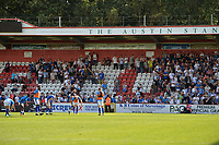 Tranmere fans at the final whistle during Stevenage vs Tranmere Rovers, Sky Bet EFL League 2 Football at the Lamex Stadium on 4th August 2018