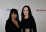 Millie Rivers & Caralissa Stanley at Color of Beauty Awards hosted by VH1's Gossip Table's Delaina Dixon and Maureen Tokeson-Martin on February 28, 2015 with red carpet, awards and cocktail reception at Ana Tzarev Gallery, New York City, New York.  (Photo by Sue Coflin/Max Photos)