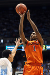 02 February 2013: Virginia Tech's Robert Brown. The University of North Carolina Tar Heels played the Virginia Tech Hokies at the Dean E. Smith Center in Chapel Hill, North Carolina in an NCAA Division I Men's college basketball game. UNC won the game 72-60 after overtime.