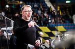 Stockholm 2014-11-16 Ishockey Hockeyallsvenskan AIK - IF Bj&ouml;rkl&ouml;ven :  <br /> AIK:s tr&auml;nare tr&auml;nare huvudtr&auml;nare Peter Nordstr&ouml;m reagerar under matchen mellan AIK och IF Bj&ouml;rkl&ouml;ven <br /> (Foto: Kenta J&ouml;nsson) Nyckelord:  AIK Gnaget Hockeyallsvenskan Allsvenskan Hovet Johanneshov Isstadion Bj&ouml;rkl&ouml;ven L&ouml;ven IFB portr&auml;tt portrait