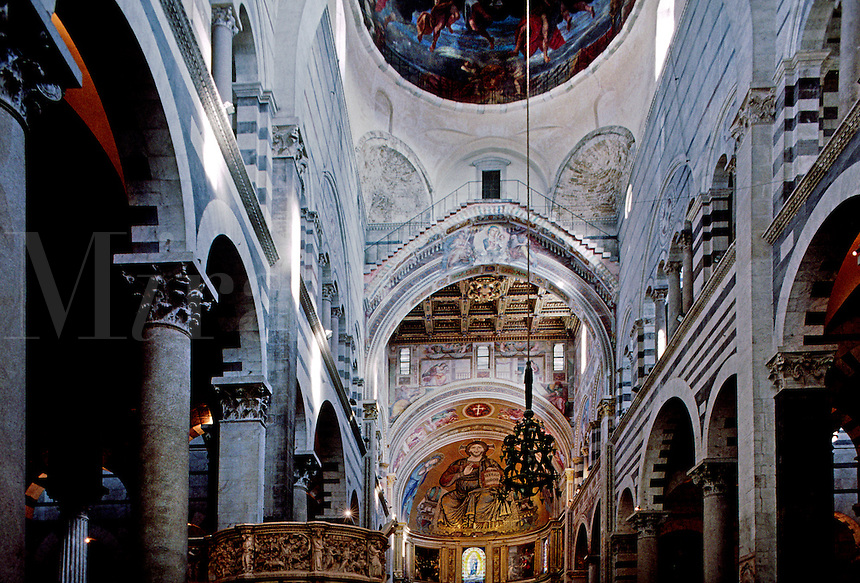 Interior of PISA'S 12th Cent. DUOMO (Cathedral) - PISA, ITALY