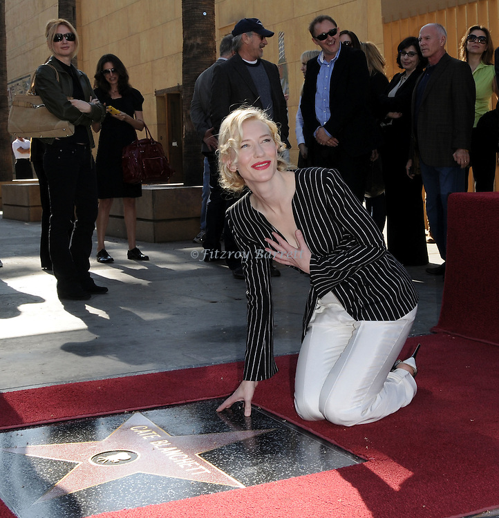 Cate Blanchett was Honored 2,376 star on the Hollywood Walk of Fame in front of the Egyptian Theatre Hollywood, Ca. December 5, 2008. Fitzroy Barrett