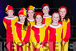 Faith Bradley, Ella Kate Flynn, Emma Mullane, Annie Mitchell, Alicia Fitzgerald, Chloe Clifford, Maria Brosnan at the Currow NS parents association musical in Killarney Racecourse on Sunday