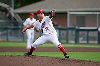 Auburn Doubledays pitcher Trey Turner (13) during a NY-Penn League game against the Batavia Muckdogs on September 2, 2019 at Falcon Park in Auburn, New York.  Batavia defeated Auburn 7-0.  (Mike Janes/Four Seam Images)